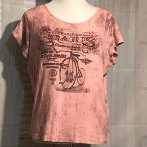Tops - Paris Bicycle Pink Tee